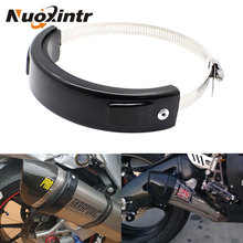 Motorcycle Exhaust Clamp Round Universal Muffler Pipe Clip 100-140Mm Stainless Steel