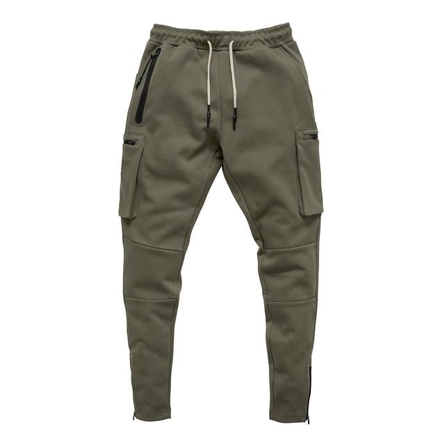Joggers Men 2020 Streetwear Trousers Multiple Zipper Pockets Muscle Mens Pants , Sweatpants Tracksuit 20CK19 6