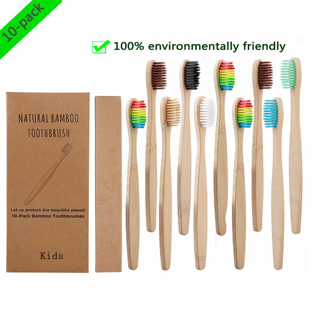 10pcs/set Child Soft Bristle Toothbrush For Children Teeth Bamboo Training Toothbrushes Baby Dental Care Tooth Brush