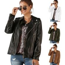 Дизайн, стиль, EBay,, женское платье в европейском и американском стиле, с длинным рукавом, на молнии, кожаное пальто, куртка Om9072