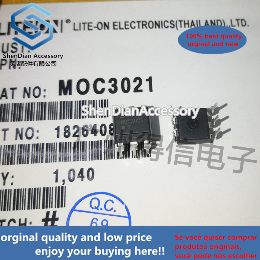 10pcs 100% New And Orginal MOC3021 3021 DIP-6 In Stock