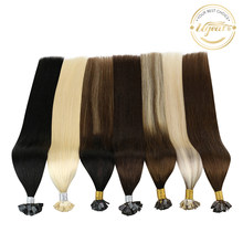 Ugeat düz ucu saç ekleme insan saçı fusion Remy saç 14-24