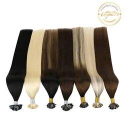 Ugeat Flat Tip Hair Extensions Human Hair Fushion Remy Hair 14-24