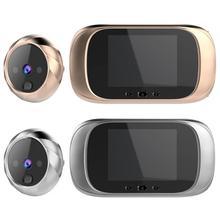 LCD 컬러 스크린 디지털 초인종 90도 도어 아이 초인종 전자 틈 구멍 카메라 뷰어 야외 도어 벨