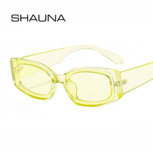 SHAUNA Retro Small Rectangle Sunglasses Women Brand Designer