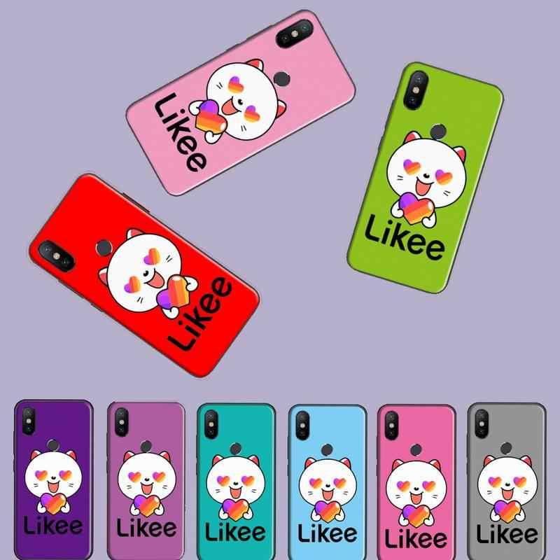 القط لطيف الوردي الأرجواني likee الأسود بولي TPU لينة غطاء الهاتف ل شاومي Redmi 4x5 زائد 6A 7 7A 8 mi8 8 لايت 9 نوت 4 5 7 8 برو