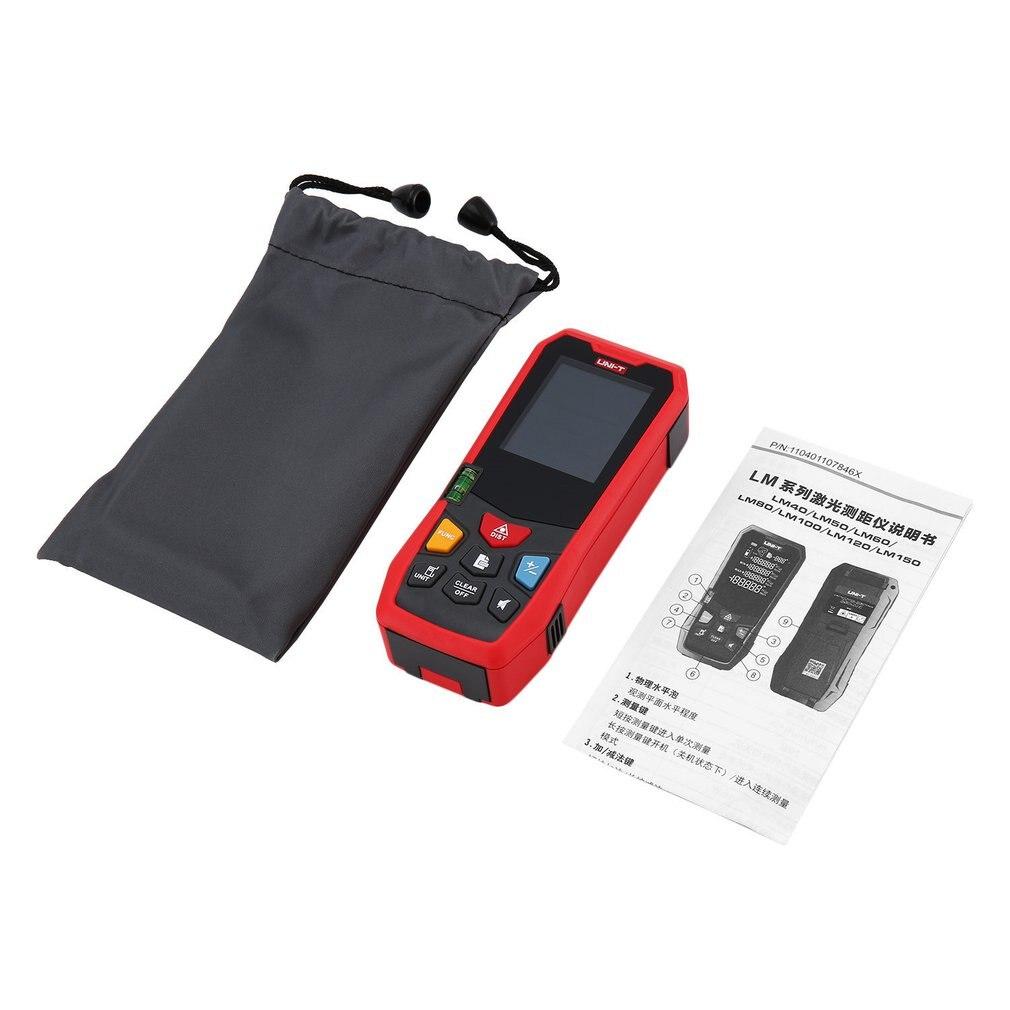 UNI-T LM100 poche numérique Laser Distance mètres LCD Laser télémètre numérique télémètre construire mesure dispositif règle