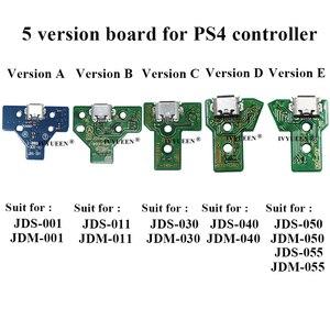 Image 2 - 10個jds 050 040 030 011 usb充電ポートソケットボードプレイステーション4 PS4 DS4プロスリムコントローラ充電器pcbボード