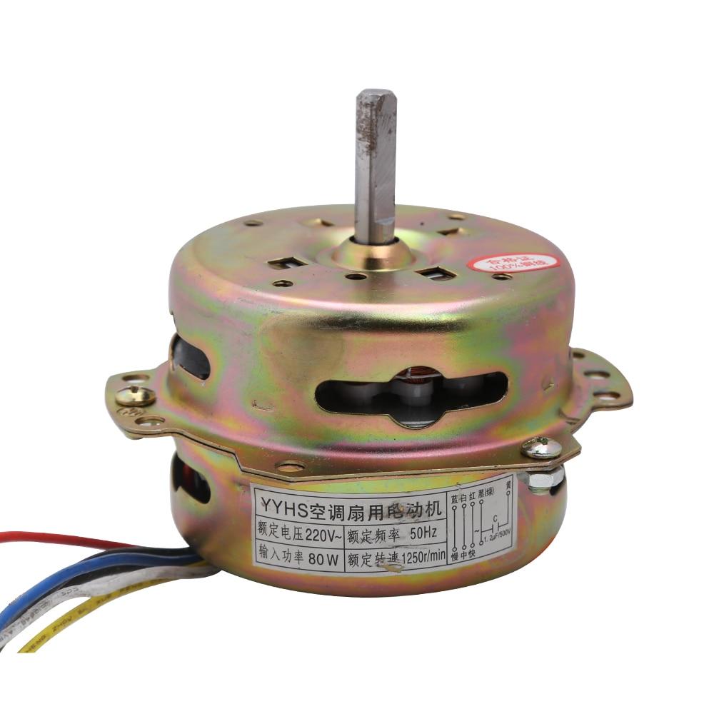 6 Line Electric Fan Fittings 80W 220V Special Motor For Air Conditioning Fan/Cold Fan 220V Pure Copper Wire Fan Motor Clockwise