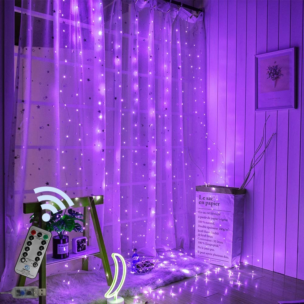 3x3M USB LED Curtain String Lights Remote Control Fairy Lights Christmas Garland For New Year Outdoor Wedding Home Party Decor