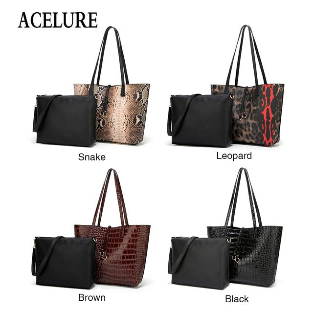 ACELURE Women Bag Fashion Casual Contain Two Packages Luxury Handbag Designer Shoulder Bags New Bags for Women Composite Bag