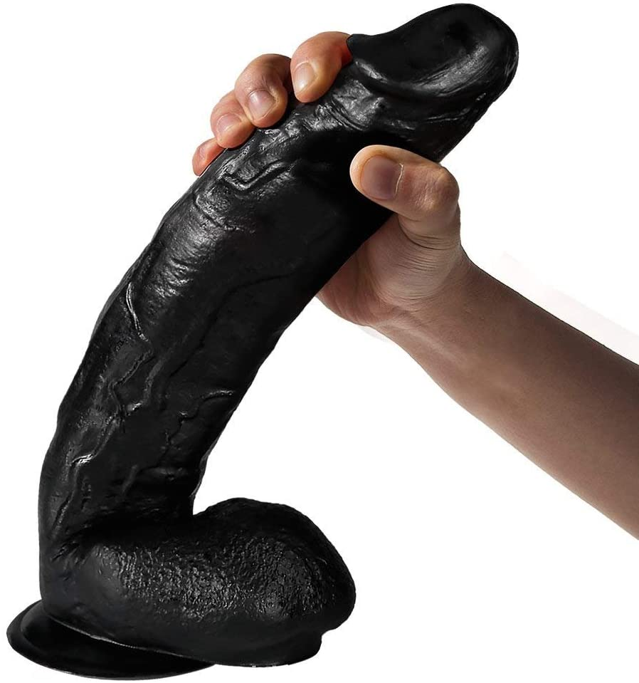 Lesbian large black dildo double head long huge realistic sex toys for woman dildo gaydildos