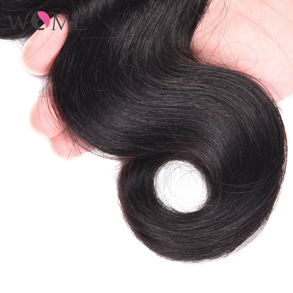 WOME Brazilian Human Hair Bundles Body Wave Bundles 1/3/4 pcs/lot 10-26 Inches Natural Color Non-remy Hair Weave Extensions
