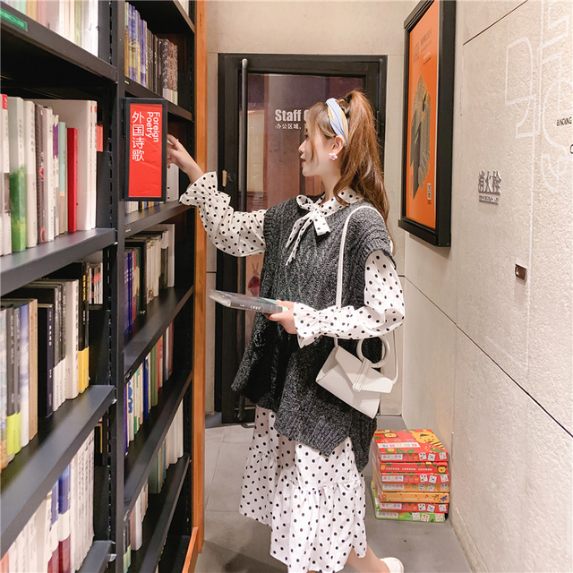 O-neck Long Knitted Women's Sweater Sleeveless Jacket Winter Warm Female Vest Korean Ruffle  For Women Fashion Loose Waistcoat 6