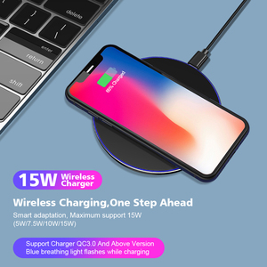 Image 3 - 15W Wireless Charger Pad For Samsung Note 10 9 S10 Plus Huawei Xiaomi iPhone 11 Pro X XS Max XR 8 10W QI Fast Induction Charging