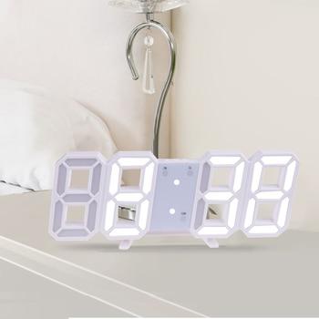 3D Large LED Digital Wall Clock Date Time Celsius Nightlight Display Table Desktop Clocks Alarm Clock From Living Room 8