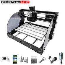 CNC 3018ProMax grabador láser de máquina de grabador láser de 3 ejes de madera de Metal de piedra Mini CNC maquina enrutadora Offline con controlador