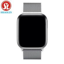 42mm 블루투스 스마트 워치 시리즈 4 1:1 SmartWatch iOS 안드로이드 애플 시계 아이폰 심박수 ECG 보수계 업그레이드