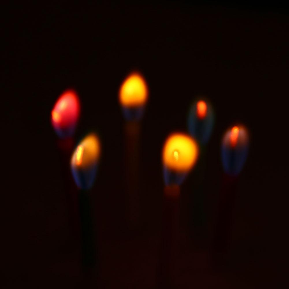 6 шт цветные свечи для дня рождения безопасные украшения пламя свечи для домашней вечеринки на день рождения Декор вечерние реквизиты вечерние свечи
