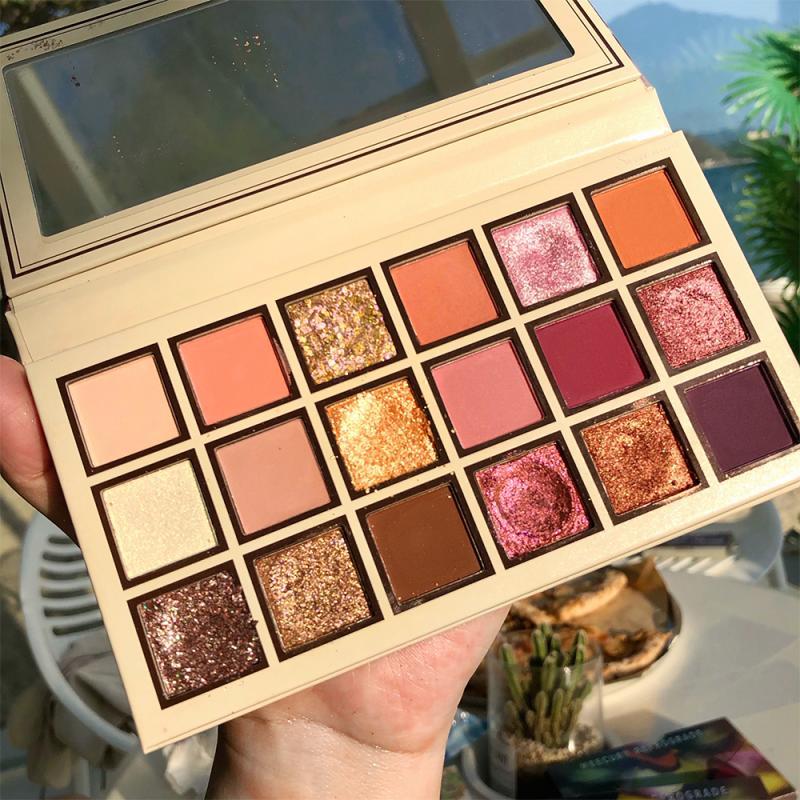 18 Color Beginner Girl Shining Eyeshadow Pearlescent Makeup Glitter Pigment Smoky Eye Shadow Pallete Waterproof Cosmetics TSLM2