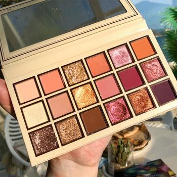 18 Color Beginner Girl Shining Eyeshadow Pearlescent Makeup Glitter Pigment Smoky Eye Shadow Pallete Waterproof Cosmetics TSLM2 недорого