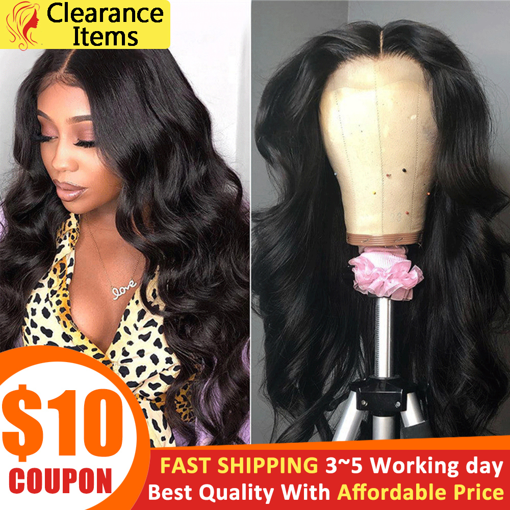 Beauty Lumina Pre Plucked 4x4 Lace Closure Wig Malaysian Body Wave Lace Wigs For Black Women Remy Human Hair Wigs 180% Density