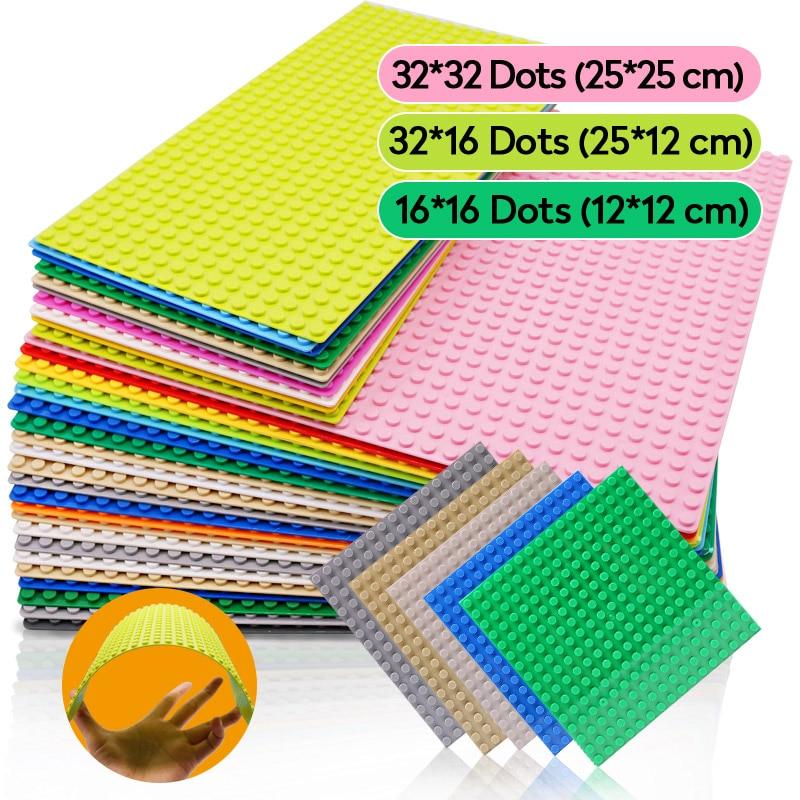 Классические базовые пластины, пластины из пластика, 16*16 точек, для строительства, город, «сделай сам», конструктор, 32*32 32 32*16