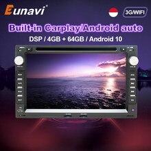 Eunavi 2 Din Auto Multimedia Radio Voor Vw Volkswagen MK4 MK5 Passat B5 Jetta Bora Polo Vervoer T5 Dsp Android gps Dvd-speler