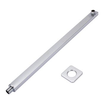 57cm naścienne chromowane ramię prysznicowe srebrne kwadratowe ramiona prysznicowe do głowicy deszczownica akcesoria łazienkowe prysznicowe tanie i dobre opinie Mayitr CN (pochodzenie) NONE Mosiądz Brak Shower Extension Arm