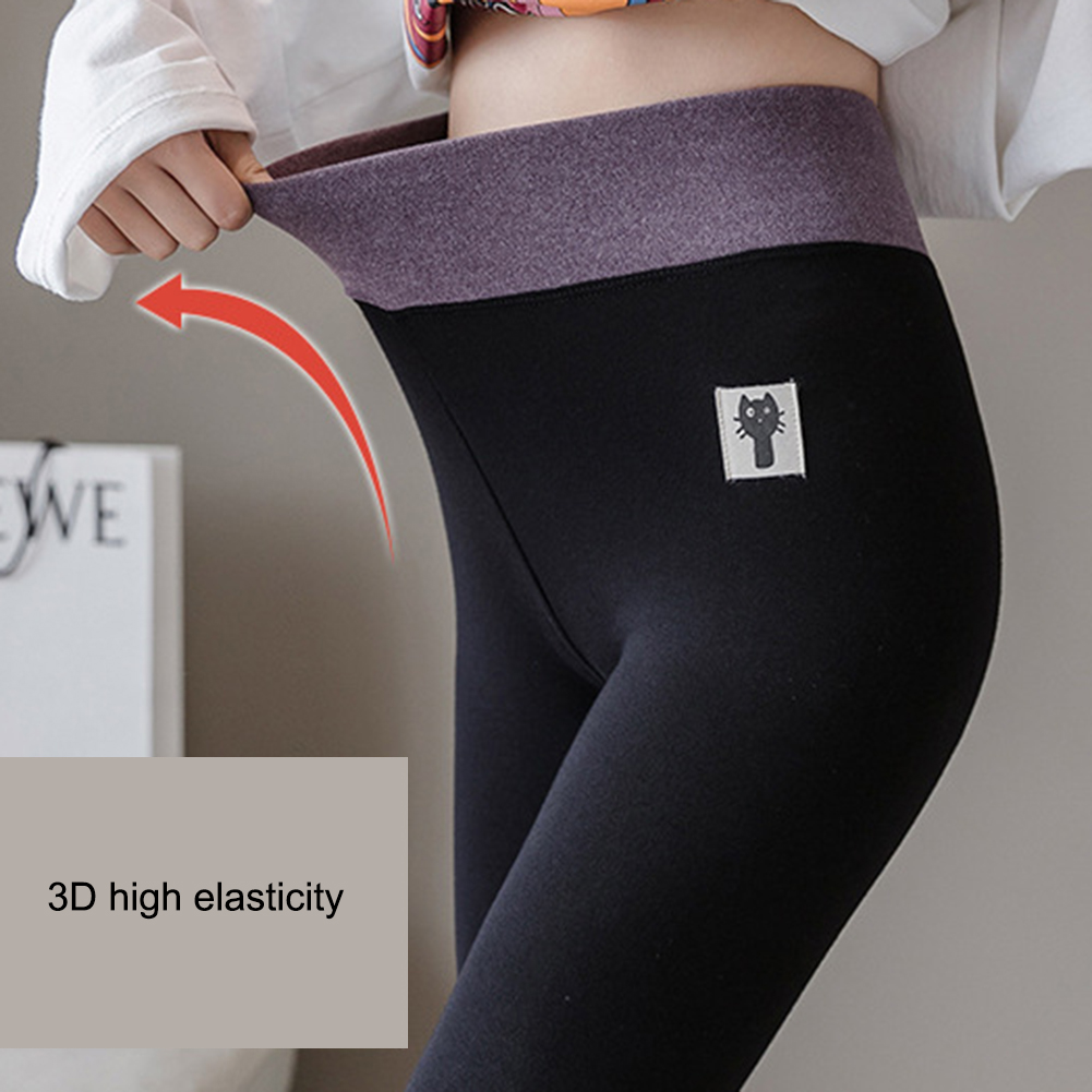 New Fashion Women's Autumn And Winter High Elasticity And Good Quality Thick Velvet Pants Warm Plus Size Cotton Leggings