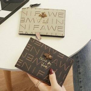 Image 4 - 2020小さな財布ショート革女性牛革マルチカードカードバッグビッグ超薄型カードバッグ名刺ホルダーカード