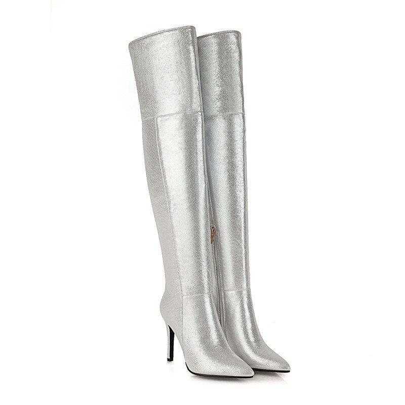 Mstacchi elegante salto alto botas femininas de