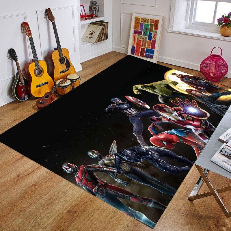 Cartoon The Avengers Playmat Baby Rug Kitchen Room& Bathroom  Carpet Living Room Carpet Birthday Gift Doormat  Multiple Sizes