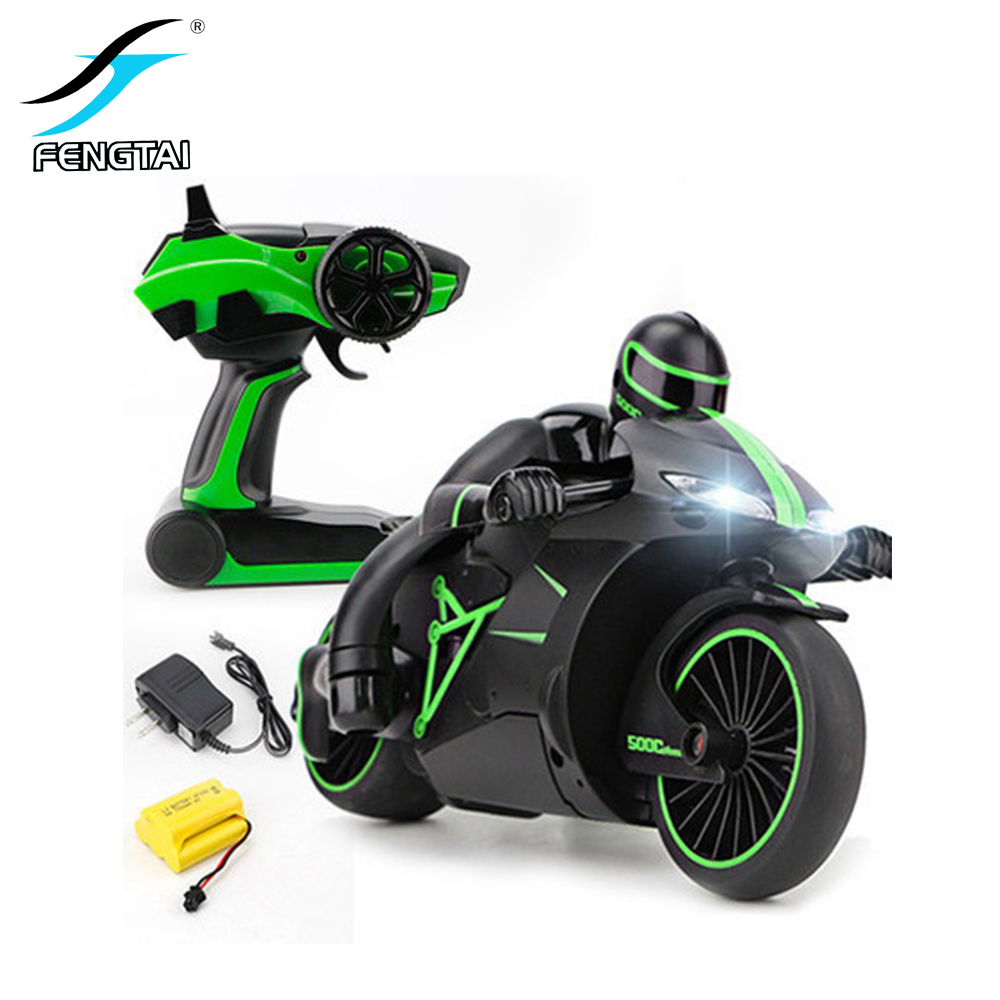 Cool Mini High Speed Remote Control Motorcycle Model Toy Fashion Drift Electric Children 2.4Ghz Racing Toy Gift