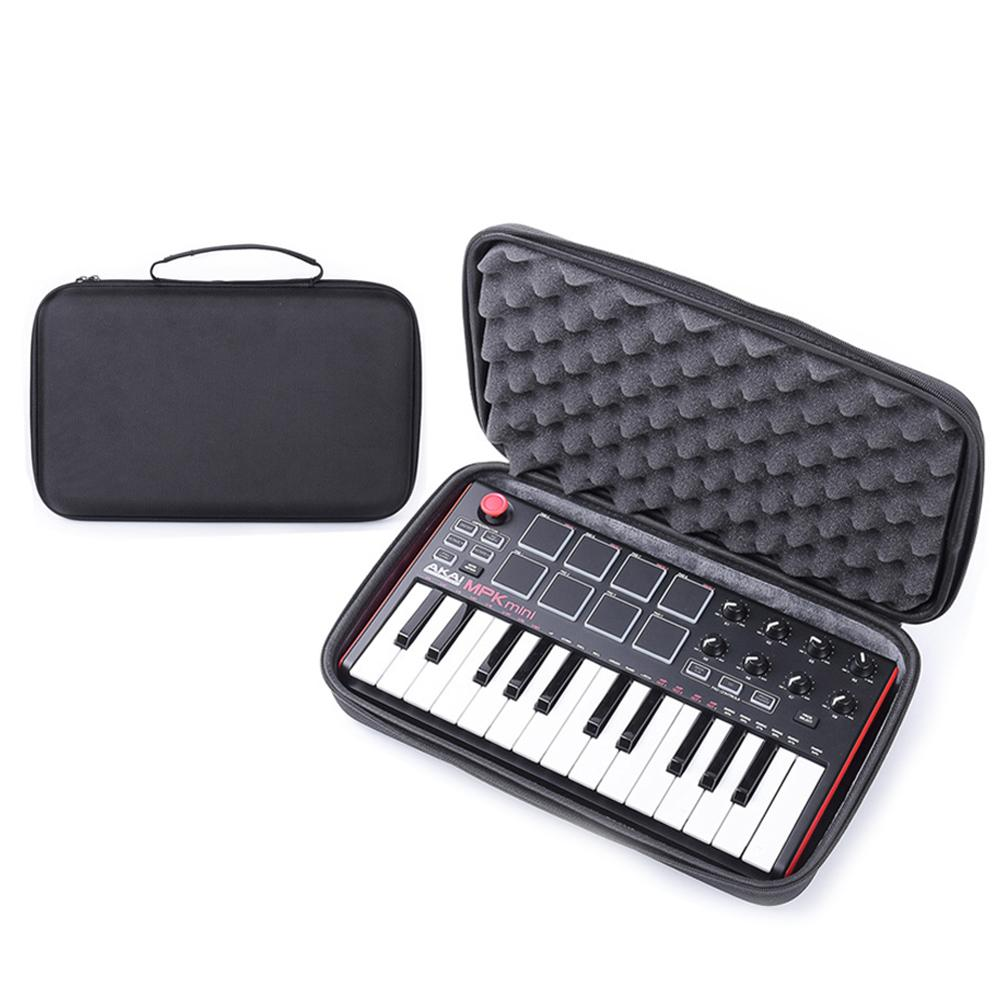 Instrument Storage Bag For MPK Mini MK2 Keyboard Hard Case Travel Carrying Protective Bag For 25-Key Portable USB MIDI Keyboard