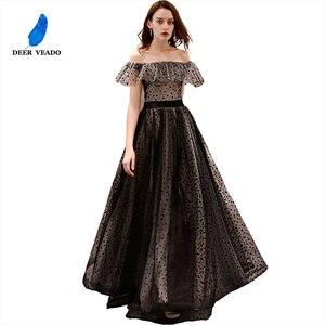 Image 5 - DEERVEADO prawdziwe zdjęcia linia Boat Neck elegancka, długa suknia Vintage formalne sukienek suknia wieczorowa Robe De Soiree YS434
