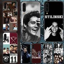 Teen Wolf Dylan OBrien caixa Do Telefone Para Samsung Galaxy UM 3 5 7 8 10 20 21 30 40 50 51 70 71 E S 2016 2018 4G pintura preta de volta
