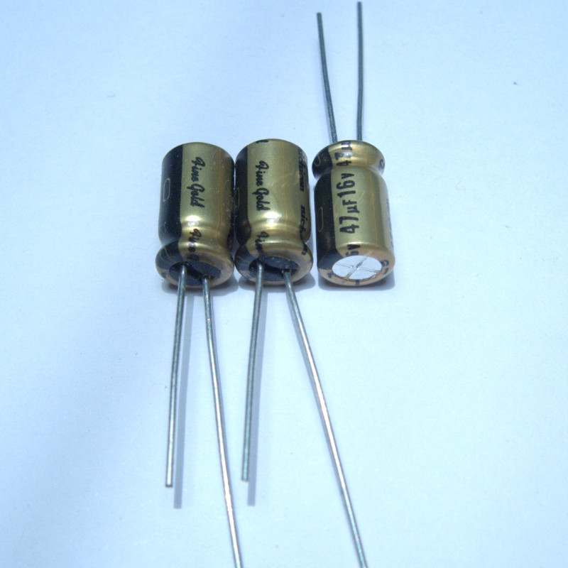 20PCS NICHICON FG 16V47UF 6.3x11MM Fine Gold 47UF 16V FineGold 47UF/16V MUSE Audio Capacitor 47UF16V