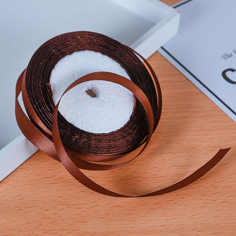 25 ярдов/рулон атласная лента Гро-Гро ленты для свадьбы Рождественская вечеринка украшения «сделай сам» бант ленты для поделок Упаковка для подарков - Цвет: 36