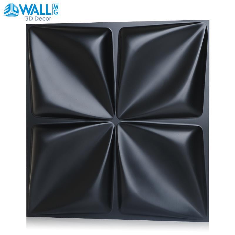 30x30cm 3d Art Plaster Cutting Geometric Diamond Carved Wood Adhesives Bottom Wall 3d Wall Sticker Home Decor Decorative Panel