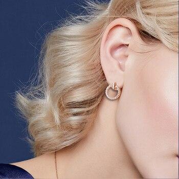 New Fashion Women Stud Wedding Earrings Simple Hypoallergenic Circle Exquisite Mini Earrings Female Jewelry 2019 Wholesale 2