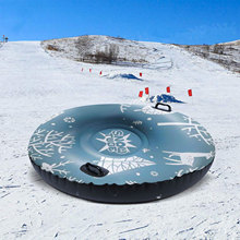 47 Inch Floated Skiing Board Ski Circle With Handle Snow Sled Thickened Snow Tube For Kids Adults Outdoor Skiing Equipments Toy