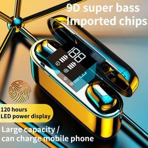 Image 2 - 2020 nowe słuchawki TWS Bluetooth słuchawki bezprzewodowe 2500mAh zestaw słuchawkowy LED 9D słuchawki hi fi Sport wodoodporne słuchawki douszne