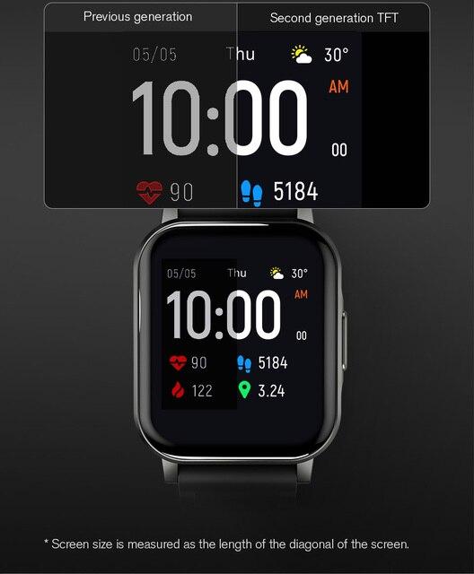Haylou Solar Mini Haylou LS02 Smart Watch,IP68 Waterproof ,12 Sport Models,Bluetooth 5.0 Sport Heart Rate Monito,English Version 5