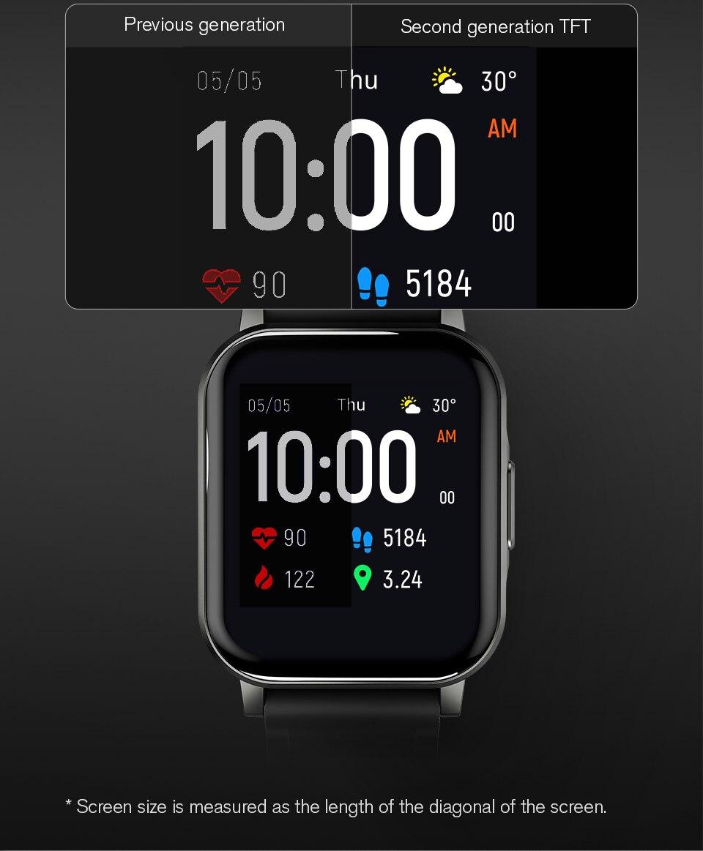 Haylou Solar Mini Haylou LS02 Смарт-часы, IP68 Водонепроницаемые, 12 спортивных моделей, Bluetooth 5,0, спорт, пульс, Monito, английская версия-4