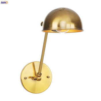 IWHD Loft Industrial Decor Retro LED Wall Light Fixtures Bedroom Cafe Stair Gold Swing Long Arm Wall Lamp Sconce Wandlamp Edison iwhd glass ball vintage wall lamp industral retro iron wandlamp swing arm wall sconce bathroom fixture led wall light up down