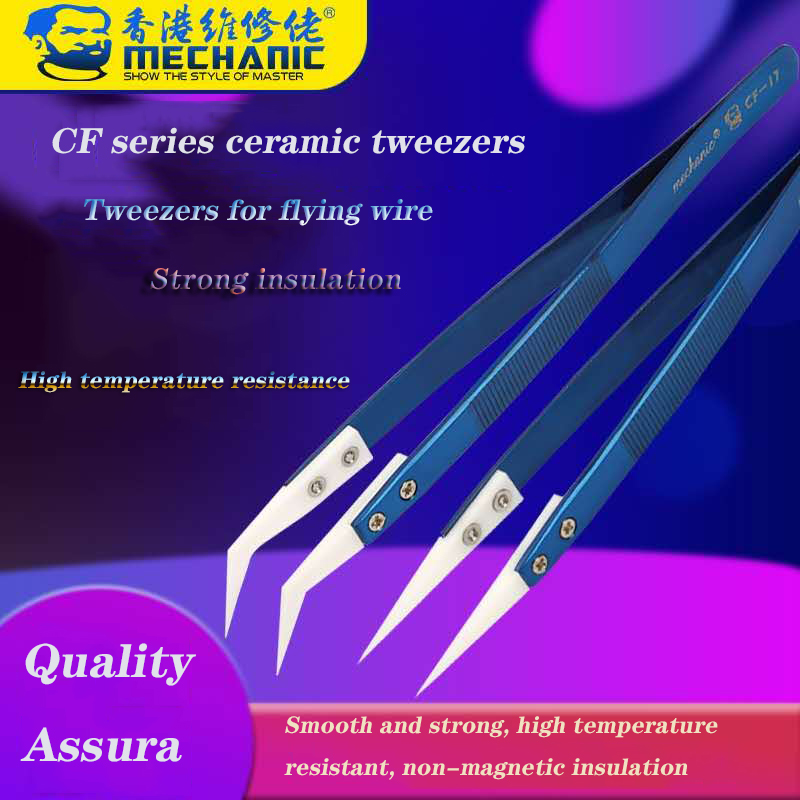 2020 New Mechanic High Precision Insulation High Temperature Ceramic Tweezers Special For Phone Mainboard Fying Line Repair Tool