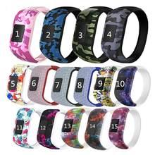Colorido pulseira de silicone sem fivela relógio banda pulseira pulseira esportes substituição para garmin vivofit jr/vivofit jr2/vivofit 3