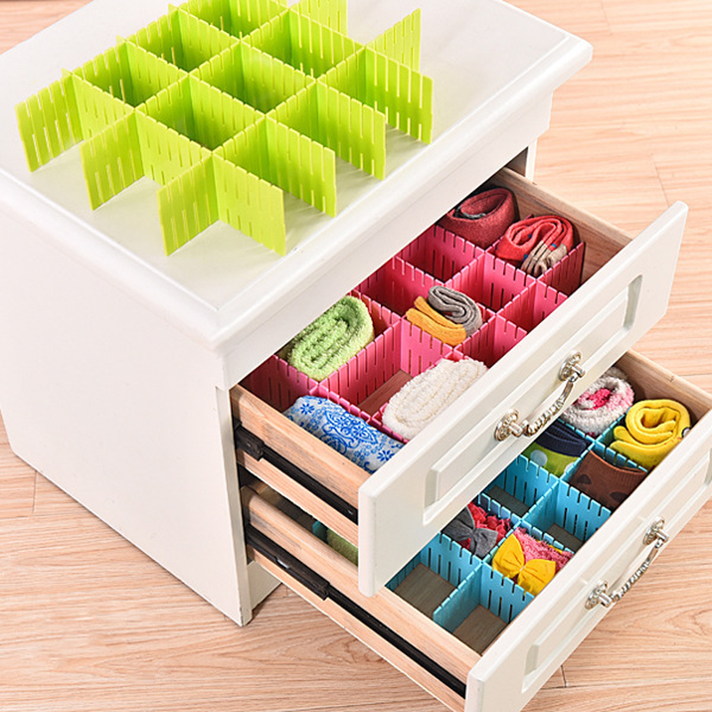 Schublade regal DIY Kunststoff Schublade Grid Separator <font><b>Drawer</b></font> Divider Partition Lagerung <font><b>Organizer</b></font> Unterwäsche Socken make-up Schindel image