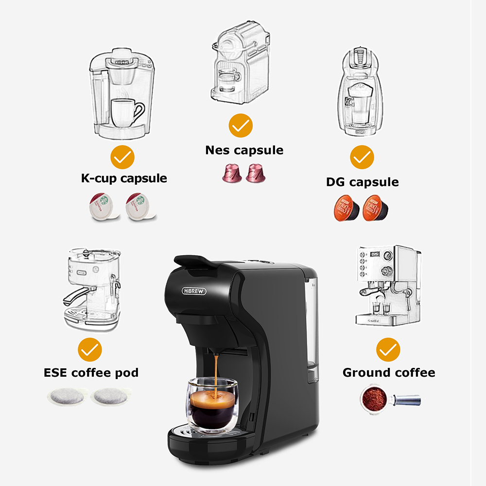 HiBREW 3 in 1 multiple Espresso Coffee Machine Full Automatic With Hot & Cold Milk Foaming Machine 4
